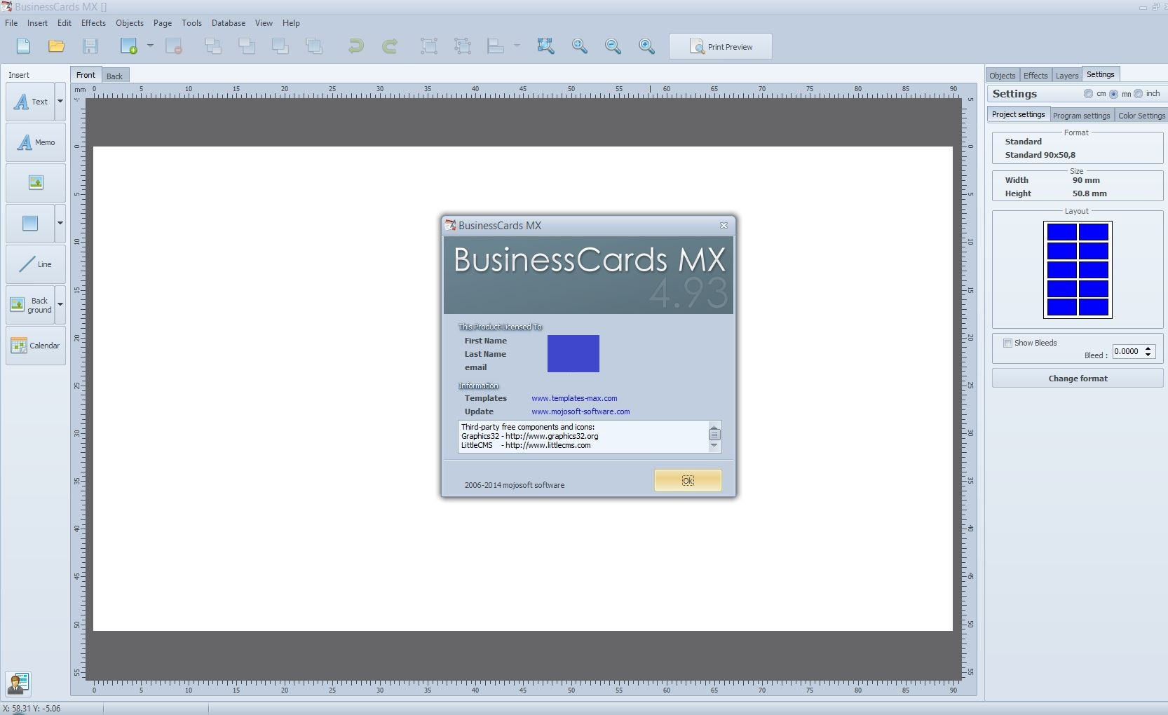 Businesscards Mx Business Cards Software Gallery - Card Design And ...